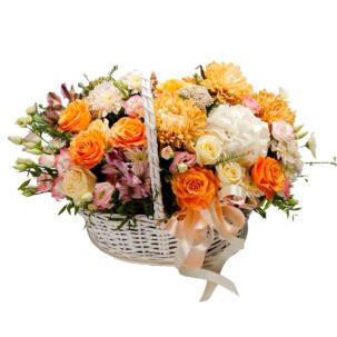 """Цветы в корзинке """"Игривая улыбка"""""""