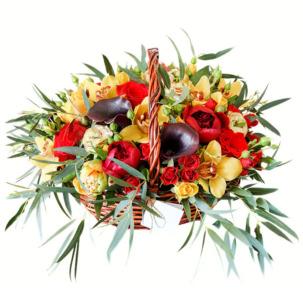 """Цветы в корзинке """"Рандеву"""""""